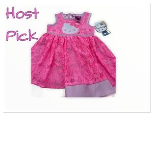 💥Host Pick💥NWT Hello Kitty pink lace lined dress
